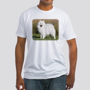 Japanese Spitz 9Y576D-265 Fitted T-Shirt