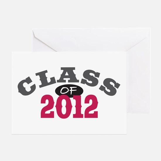 Class Of 2012 Red Greeting Card