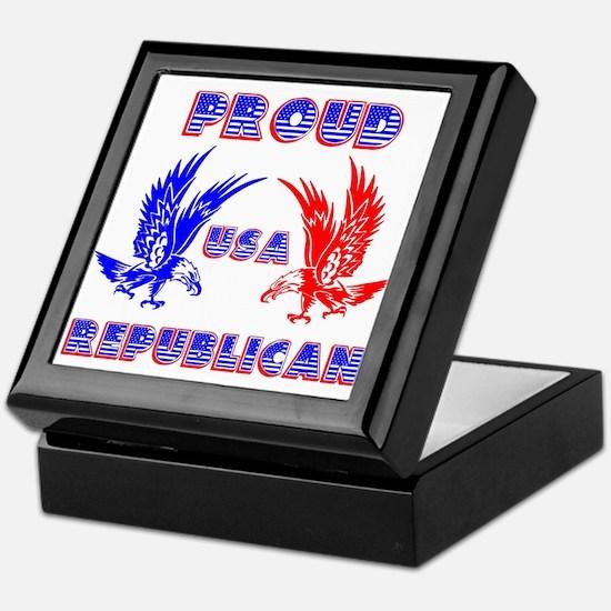 Proud USA Republican Keepsake Box