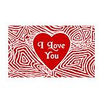 I Love You Heart 38.5 x 24.5 Wall Peel
