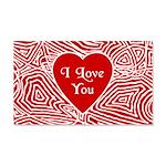 I Love You Heart 22x14 Wall Peel