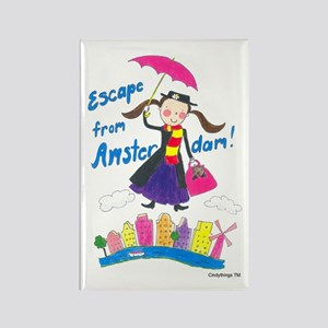 Escape from Amsterdam! Rectangle Magnet