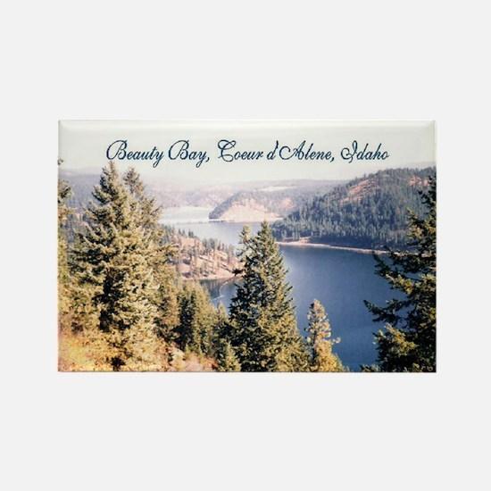 Beauty Bay, Lake Coeur d'Alene Rectangle Magnet