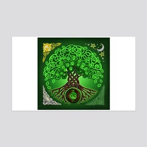 Circle Celtic Tree of Life 38.5 x 24.5 Wall Peel