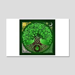 Circle Celtic Tree of Life 22x14 Wall Peel