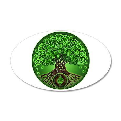 Circle Celtic Tree of Life 22x14 Oval Wall Peel