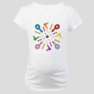 Getting Ready Mandala Maternity T-Shirt