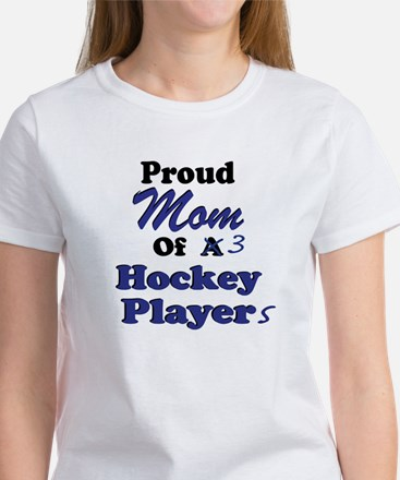 Mom 3 Hockey Players Women's T-Shirt