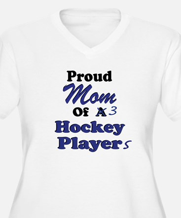 Mom 3 Hockey Players T-Shirt