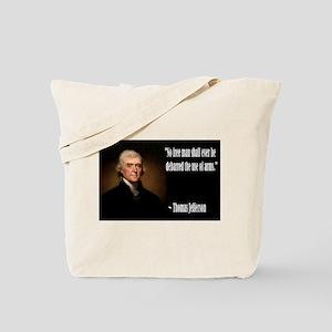 Jefferson On Guns Tote Bag