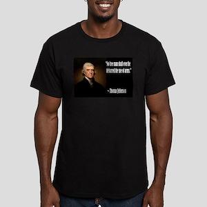 Jefferson On Guns Men's Fitted T-Shirt (dark)
