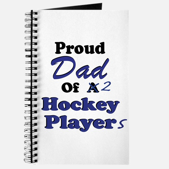 Dad 2 Hockey Players Journal