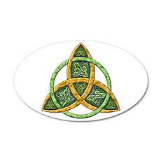 Celtic Trinity Knot 22x14 Oval Wall Peel