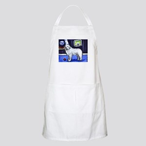 GREAT PYRENEES smiling moon BBQ Apron