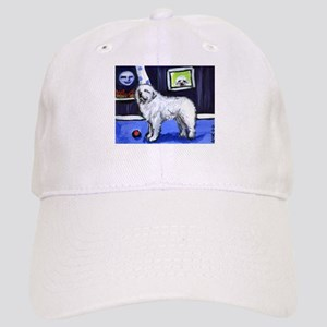 GREAT PYRENEES smiling moon Cap