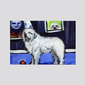 GREAT PYRENEES smiling moon Rectangle Magnet