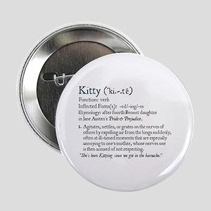 Jane Austen Kitty Definition Button