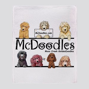 Goldendoodle McDoodles Throw Blanket