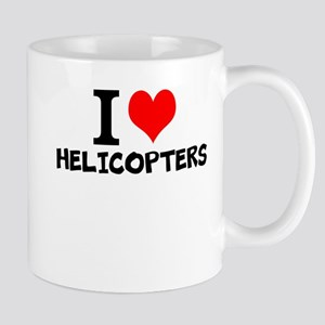 I Love Helicopters Mugs