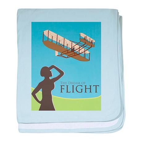 The Dream of Flight baby blanket