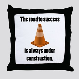 Road to Success Throw Pillow