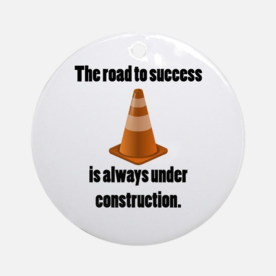 Road to Success Ornament (Round)