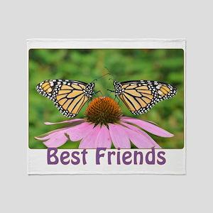 Monarch Best Friends Throw Blanket