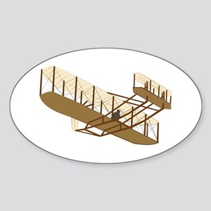 Wright Flyer Sticker (Oval)
