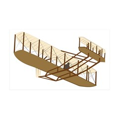 Wright Flyer 38.5 x 24.5 Wall Peel