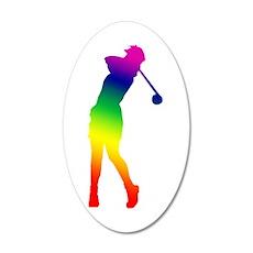 Golfer 22x14 Oval Wall Peel