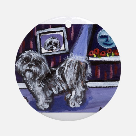 SHIH TZU moon Ornament (Round)