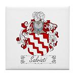 Salviati Coat of Arms Tile Coaster