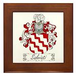 Salviati Coat of Arms Framed Tile