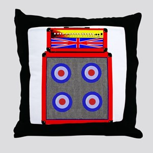 Retro Mod Guitar amp Throw Pillow