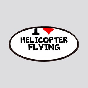 I Love Helicopter Flying Patch