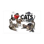 """38.5 x 24.5 Wall Peel """"I love Cats"""""""