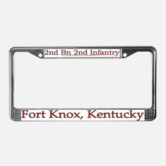 2nd Bn 2nd Infantry License Plate Frame
