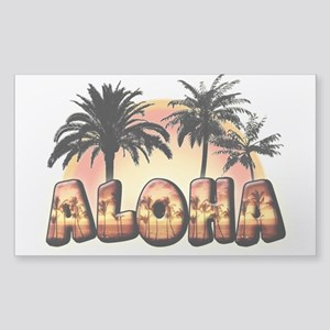 "Sticker (Rectangle 50 pk) ""Aloha"""