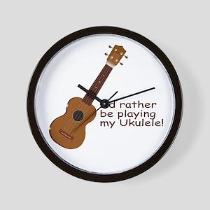 Ukulele Design Wall Clock