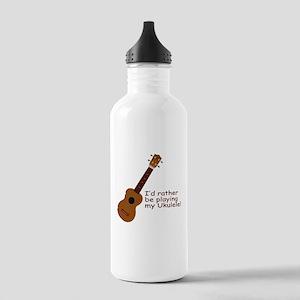 Ukulele Design Stainless Water Bottle 1.0L