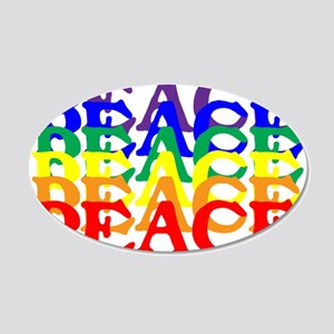 PEACE UNITY 22x14 Oval Wall Peel