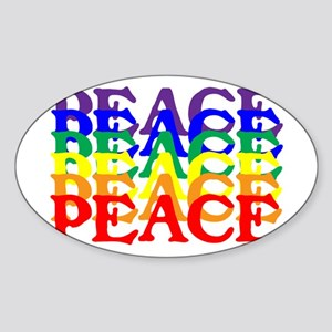 PEACE UNITY Sticker (Oval)