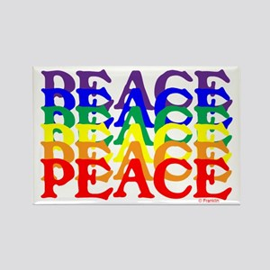 PEACE UNITY Rectangle Magnet