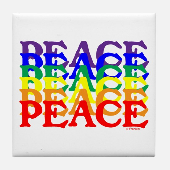 PEACE UNITY Tile Coaster