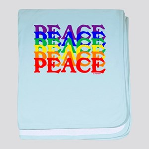 PEACE UNITY baby blanket