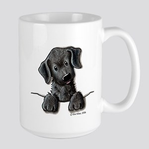 PoCKeT Black Lab Puppy Large Mug