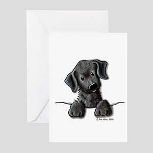 PoCKeT Black Lab Puppy Greeting Cards (Package of