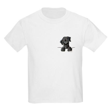 PoCKeT Black Lab Puppy Kids T-Shirt