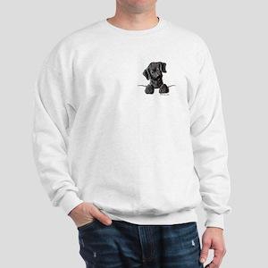 PoCKeT Black Lab Puppy Sweatshirt