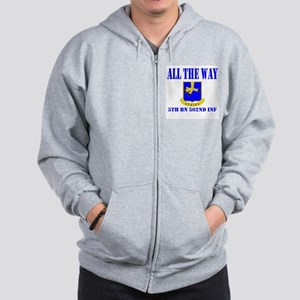 All The Way 5th Bn 502nd Inf Zip Hoodie